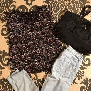 Lucky Brand Shirts Size Small floral black